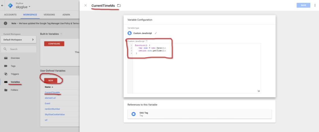 Add TimeStamp to GA pageview data | Google Analytics Event
